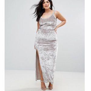 Allover Crushed Velvet Cami Maxi Dress